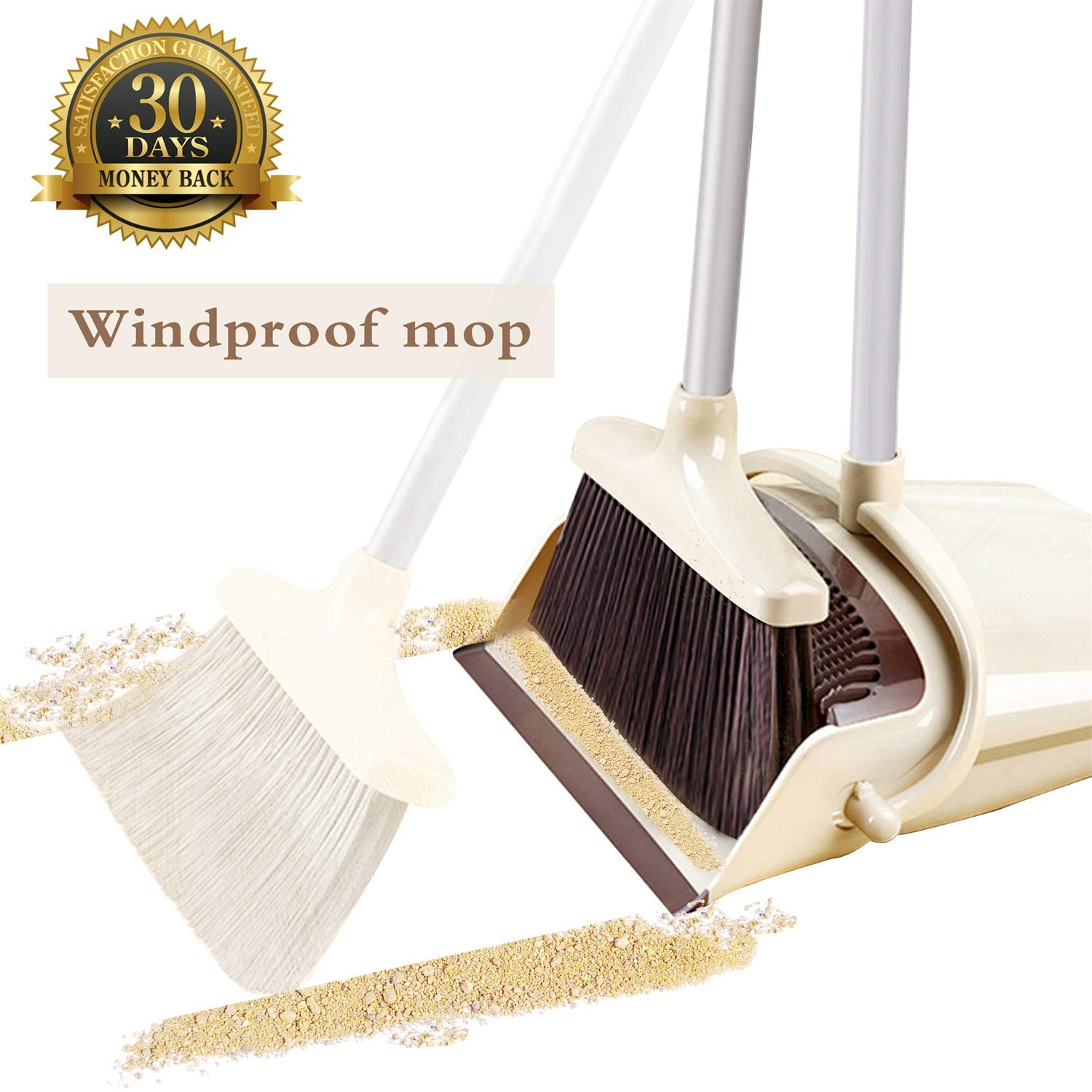OLLSDIRE Broom and Dustpan Set  | Best Brooms