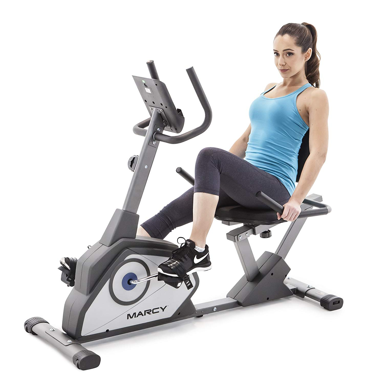 Marcy Magnetic Recumbent Exercise Bike | Home Gym Machine