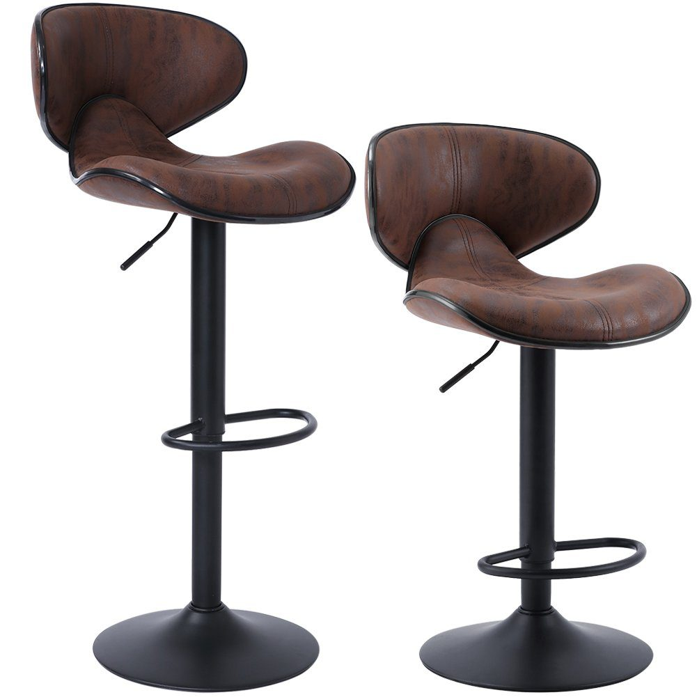 SUPERJARE Adjustable Bar Stools (Set of 2)