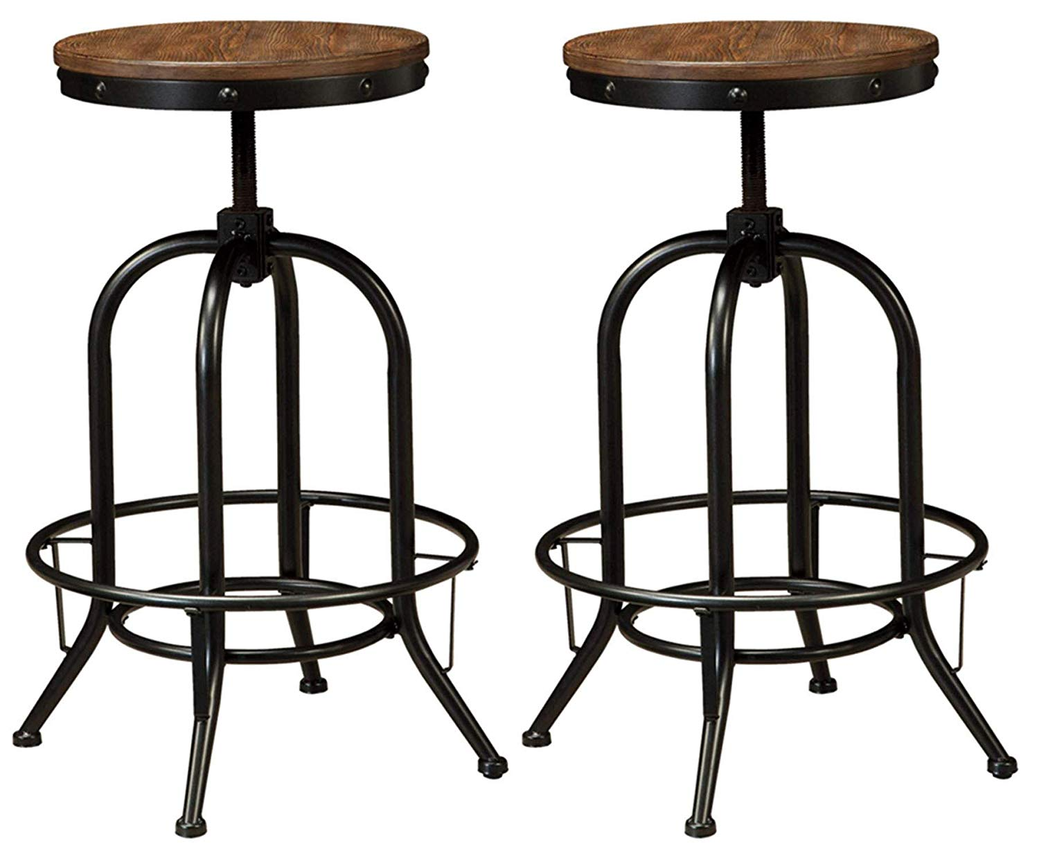 Ashley Furniture Signature Design - Pinnadel Bar Stool -Set of 2