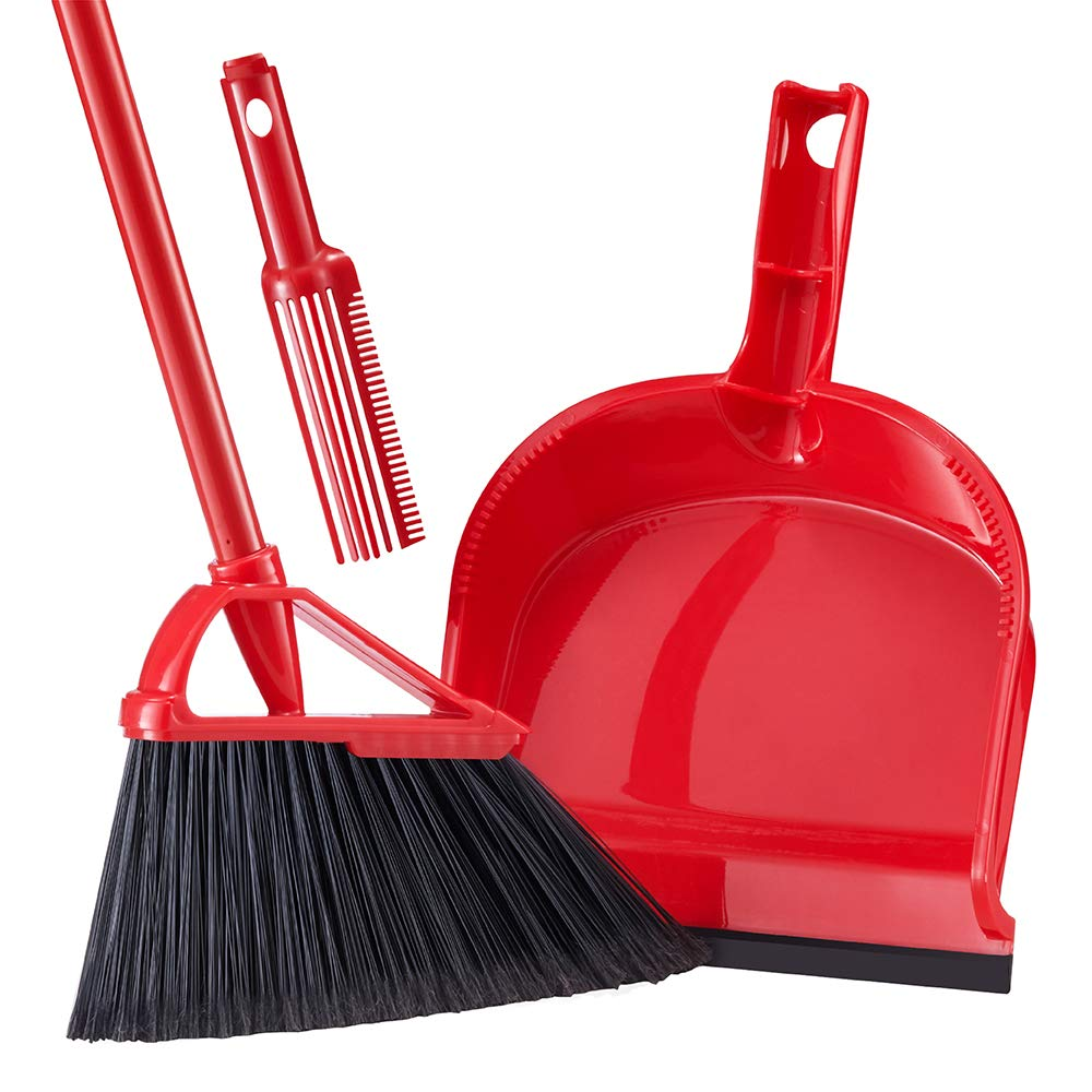 Tiumso Broom Dustpan Set with Comb Teeth  | Best Brooms