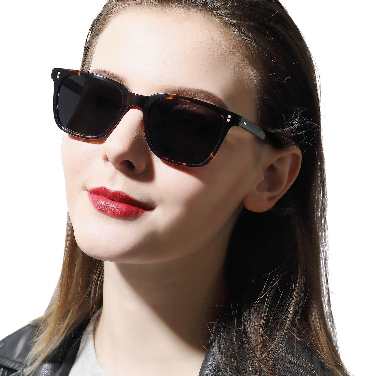 Carfia Chic Retro Polarized Womens Sunglasses UV400 Protection