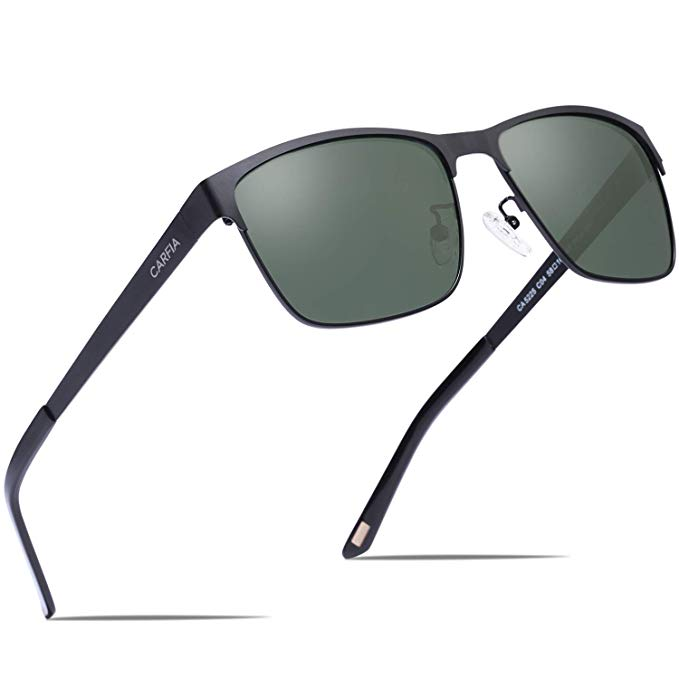 Carfia Metal Men's Sunglasses Polarized UV400 Protection