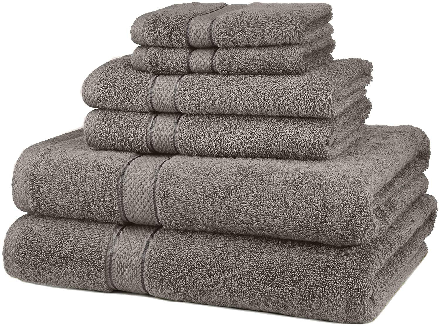 Pinzon 6 Piece Blended Egyptian Cotton Bath Towel Set
