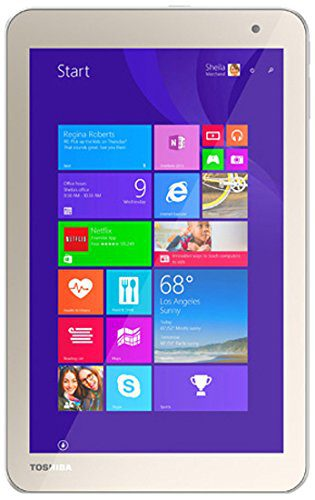"Toshiba Toshiba Encore-2 Tablet, Intel:Z3735F, 1.33 GHz, 64 GB, Intel-HD/IGP, Windows 8.1/7 Professional, Satin Gold, 8"" WXGA"