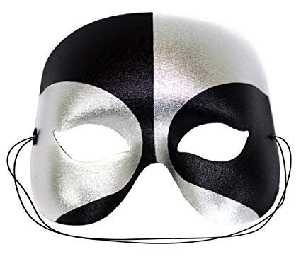 Success Creations Masquerade Mask for Men Black Silver | Best Male Masquerade Masks