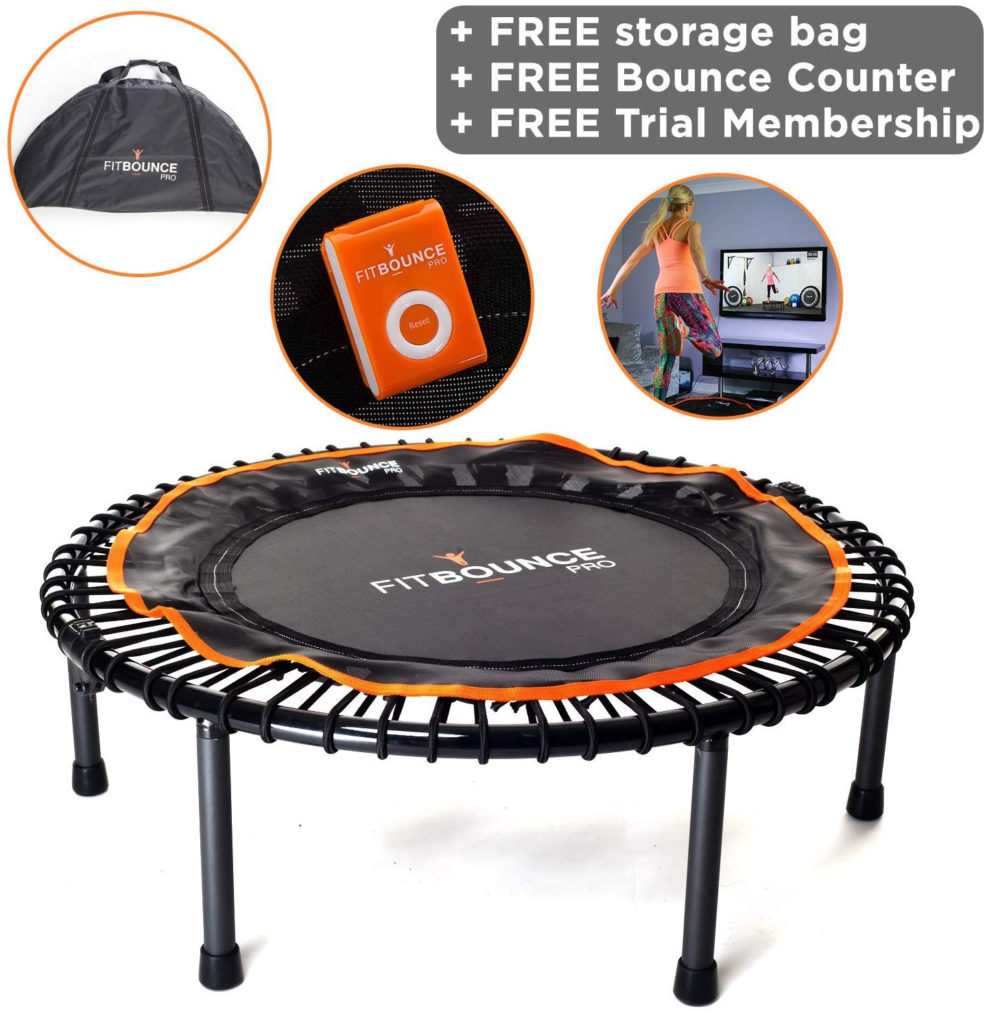 FIT BOUNCE PRO II – Top Seller | Best Exercise Trampolines