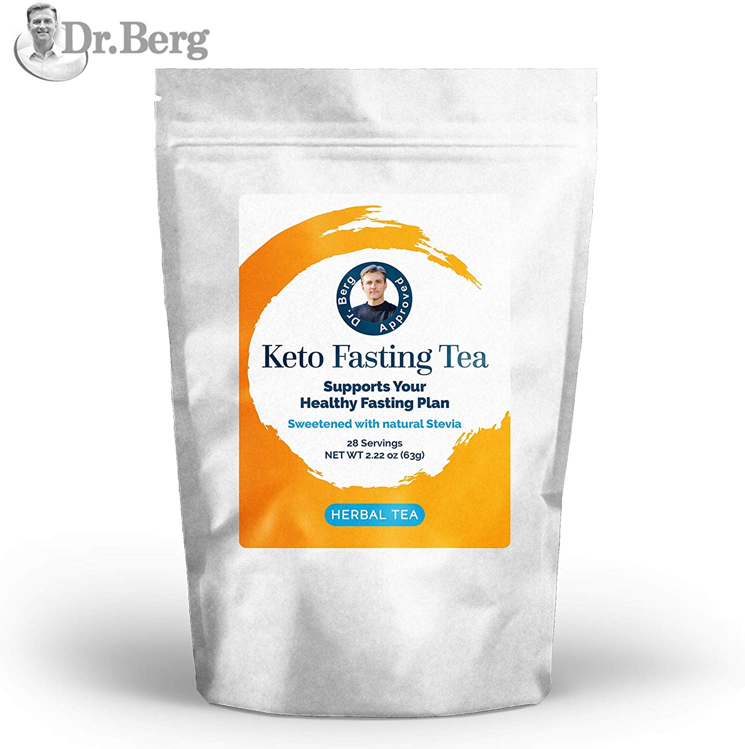 Dr. Berg's Keto Fasting Tea (Sweetened) Caffeine | Best Appetite suppressants