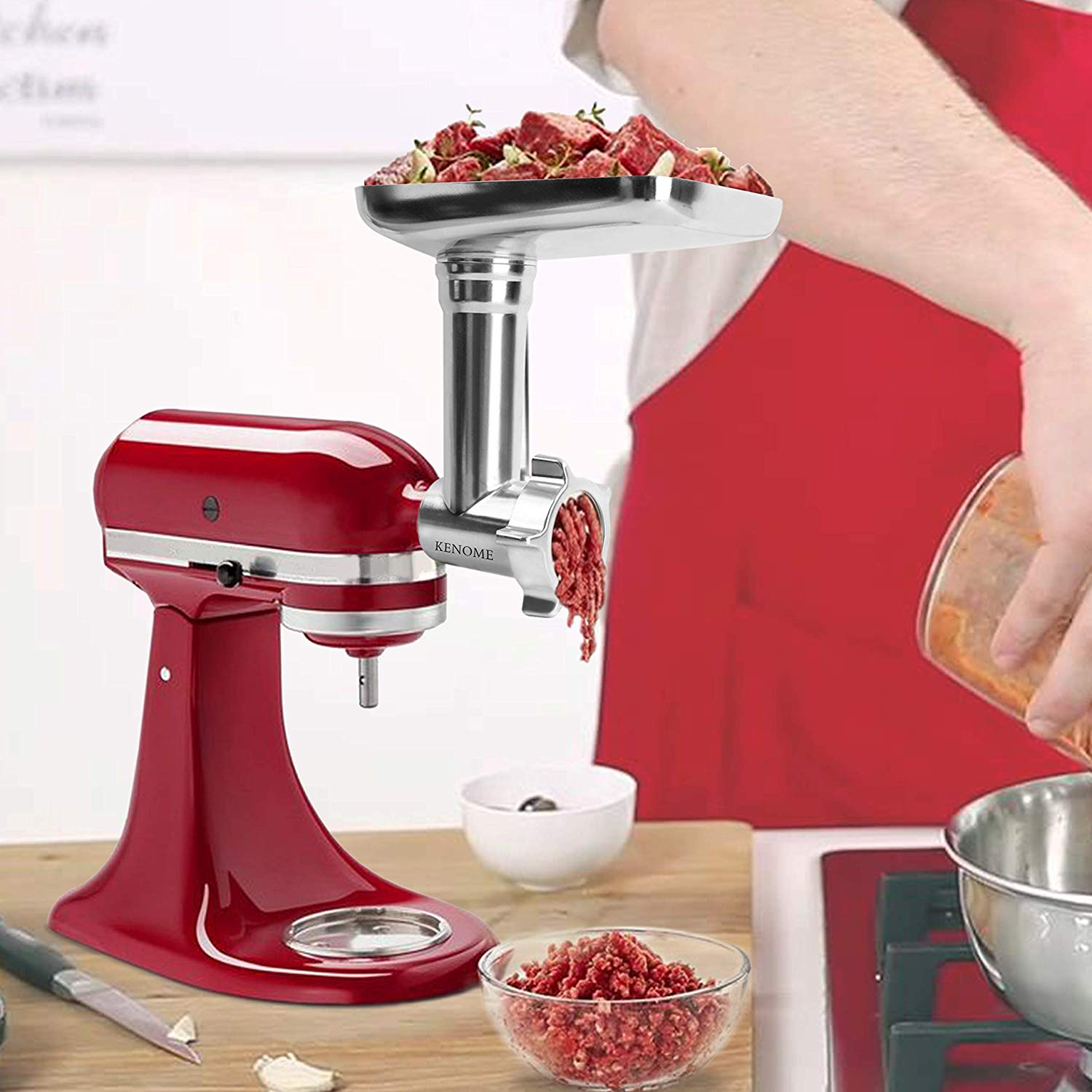 Metal Food Grinder Attachment for KitchenAid Stand Mixers - meat grinders