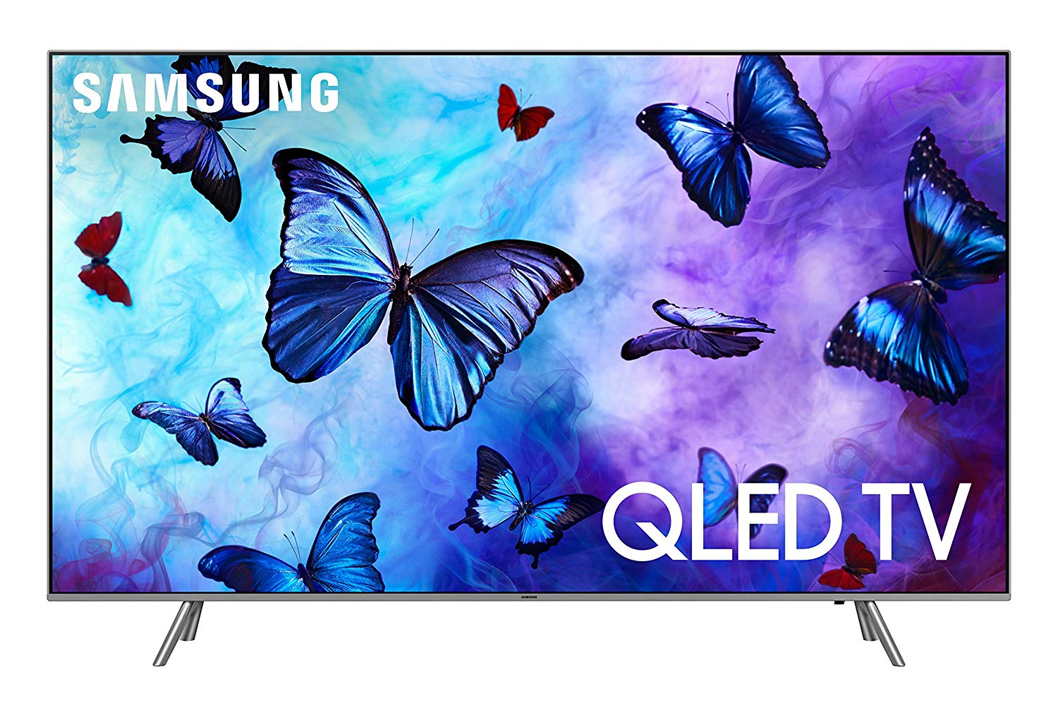 "Samsung QN82Q6 Flat 82"" QLED 4K UHD 6 Series - Big Screen TVs"