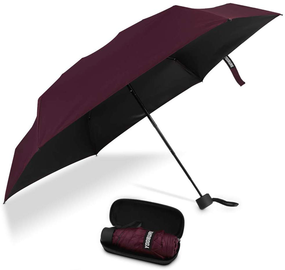 Yoobure Small Mini Umbrella with Case Light Compact Design Perfect for Travel - best umbrellas