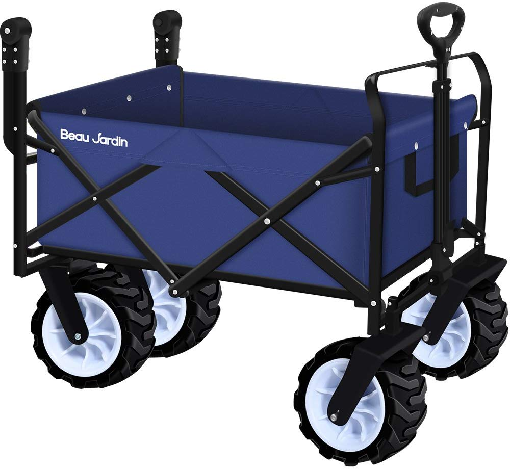 Folding Push Wagon Cart  | Best Beach Carts