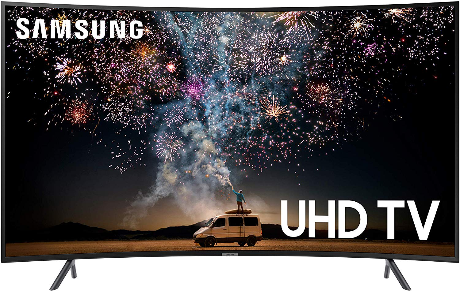 Samsung UN65RU7300FXZA Curved 65-Inch 4K UHD 7 Series Ultra HD Smart TV with HDR and Alexa Compatibility (2020 Model)