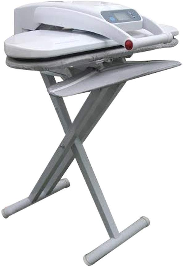 Ironing Press With Integrated Sleeveboard INCLUDES STAND! For Dry or Steam Pressing, 1400 Watts! 38 Powerful Jets of Steam, 100lbs of Pressure, Includes Extra Cover+Foam ($35 Value)! (Medium With Stand)