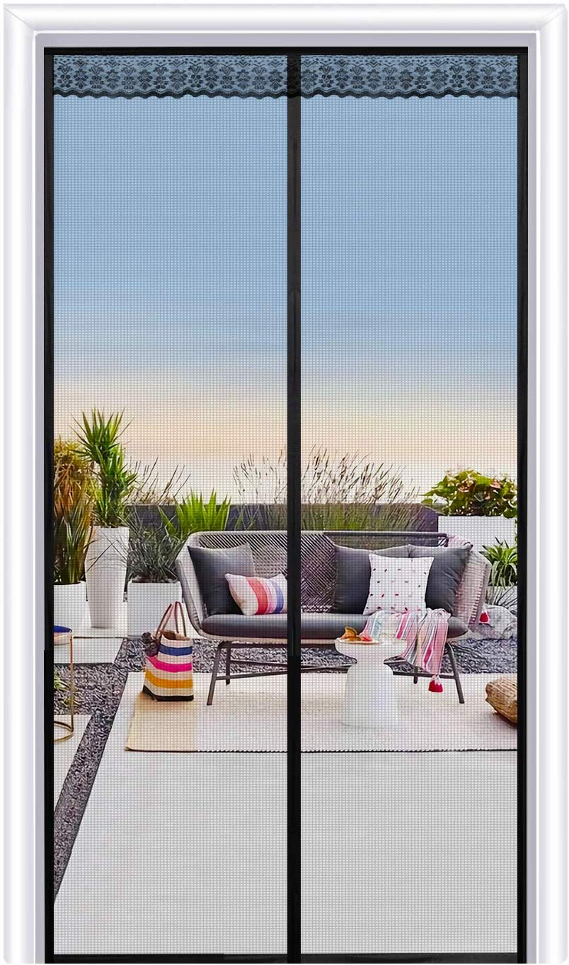 Joypea Magnetic Screen Door with Durable Fiberglass
