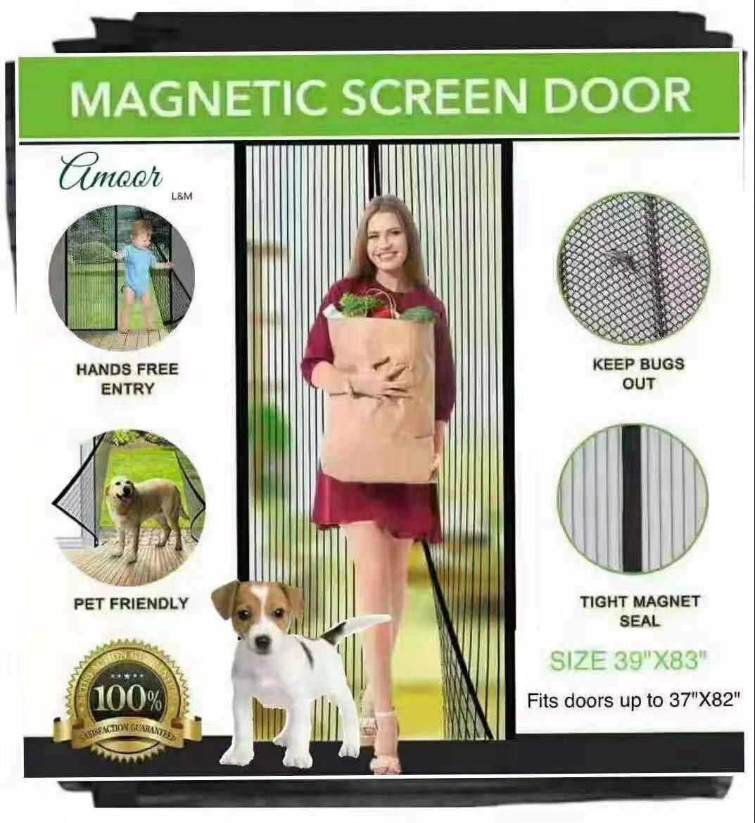 Amoor Reinforced Magnetic Screen Door, Fits Doors up to 37 x 82-Inch max (39''83'')