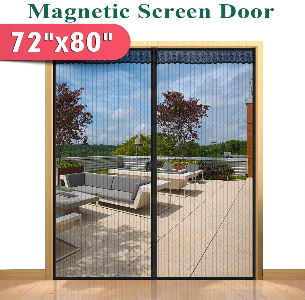 Hands Free Magnetic Screen Door for Sliding French Doors