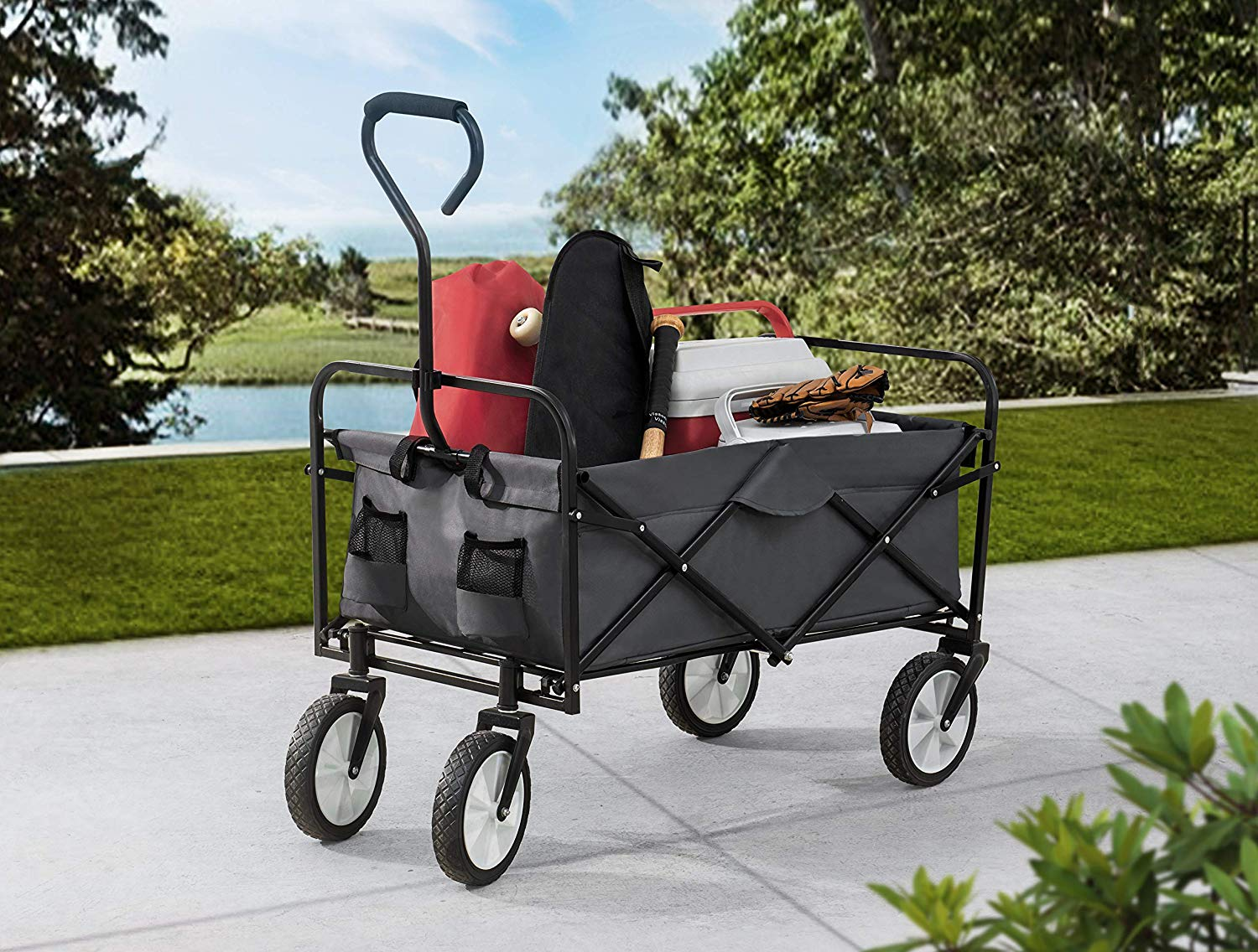 S2 Lifestyle Brazee Collapsible Folding Wagon Cart | Best Beach Carts