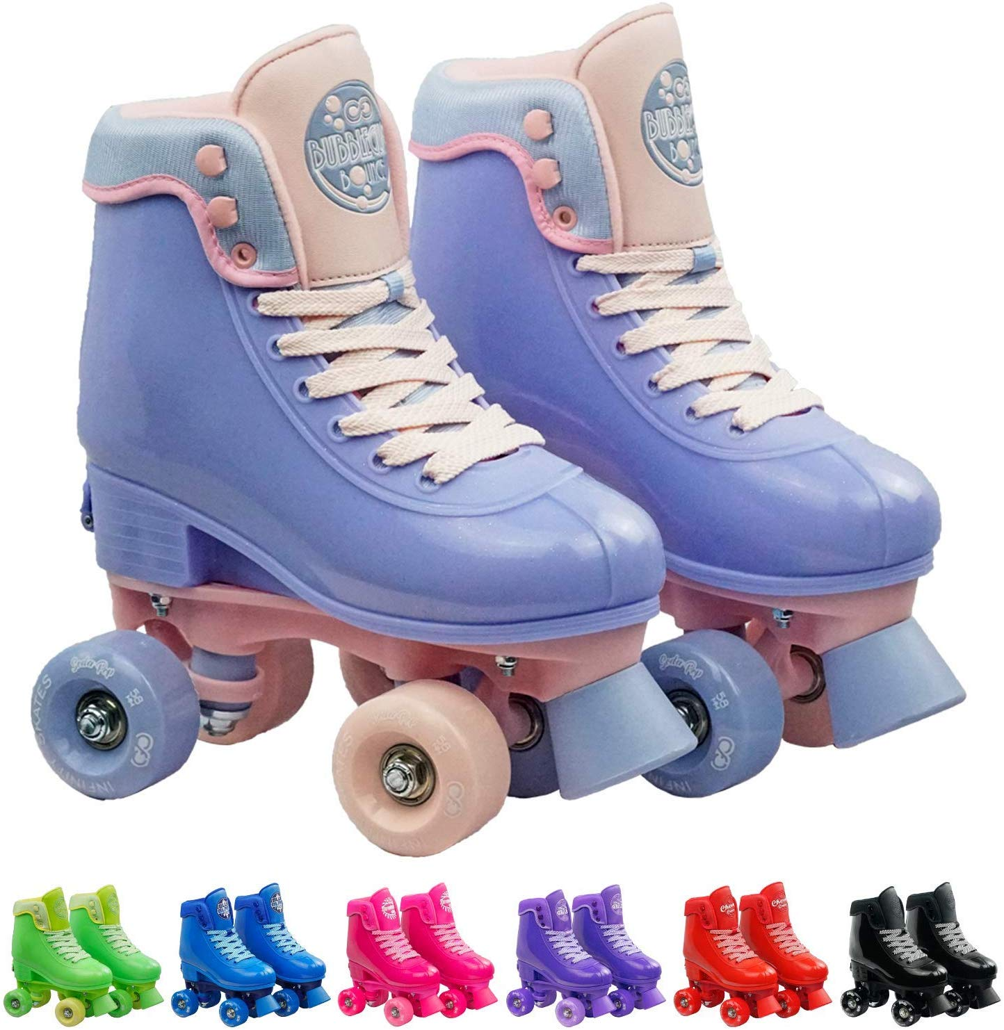 Infinity Skates Adjustable Roller Skates for Girls and Boys - Soda Pop Series - Available in 7 Colorsc