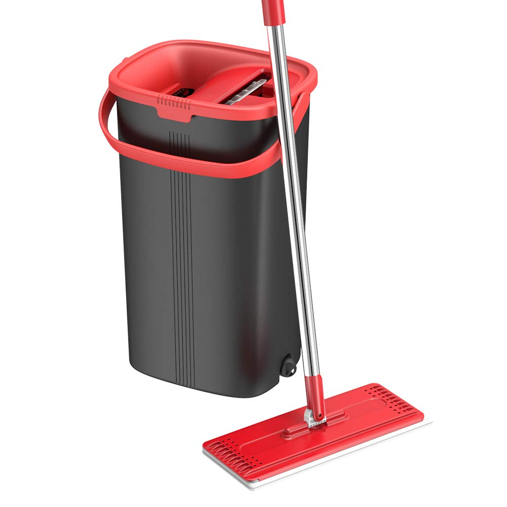 TETHYS Flat Floor Mop and Bucket Set