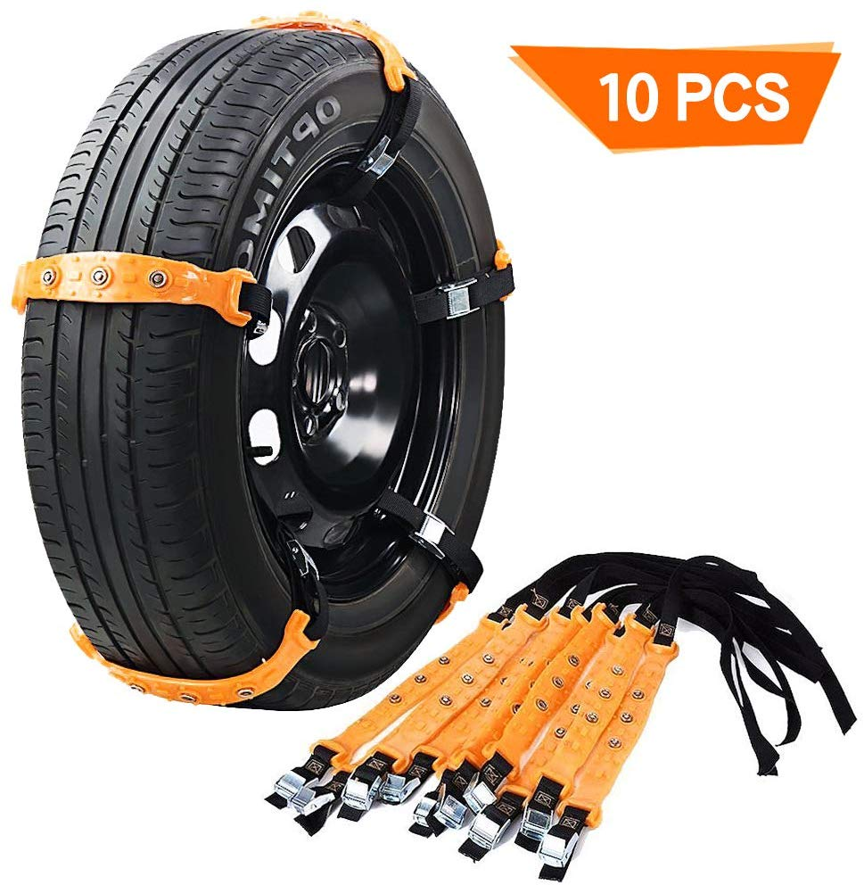 VeMee Snow Chains for Car Snow Tire Chains Car Safety Chains