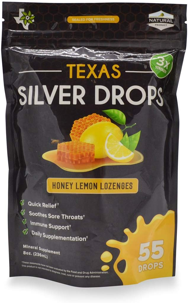 Texas SuperFood - Silver Drops, Honey Lemon Lozenges
