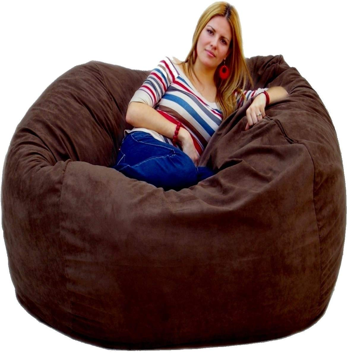 Cozy Sack 5-Feet Bean Bag Chair, Large, Chocolate