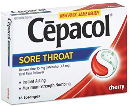 Cepacol Extra Strength Sore Throat & Cough Drop Lozenges