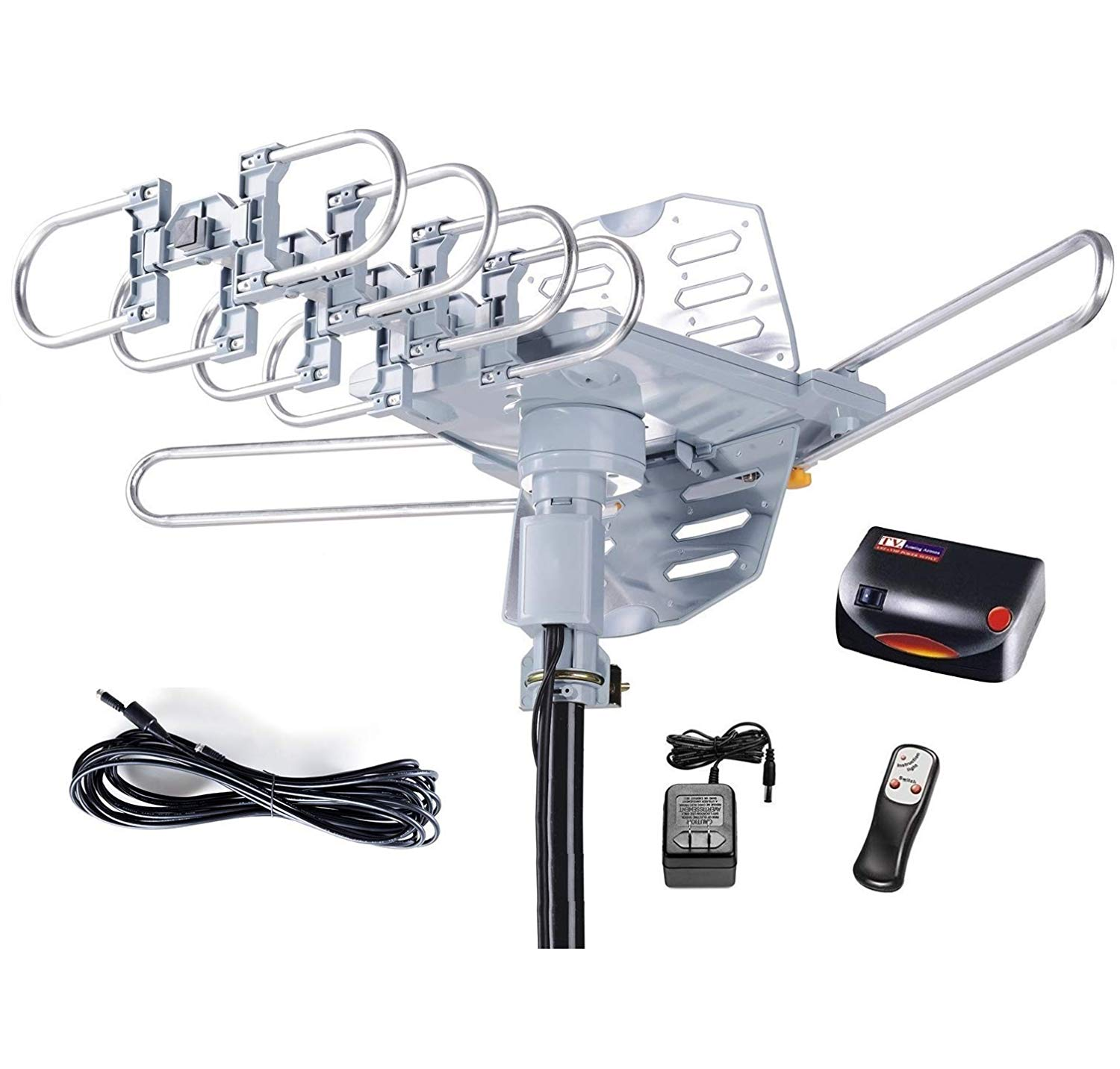 Compact Outdoor Indoor Yagi HDTV Antenna Roof Attic with 80 Mile Range RCA New
