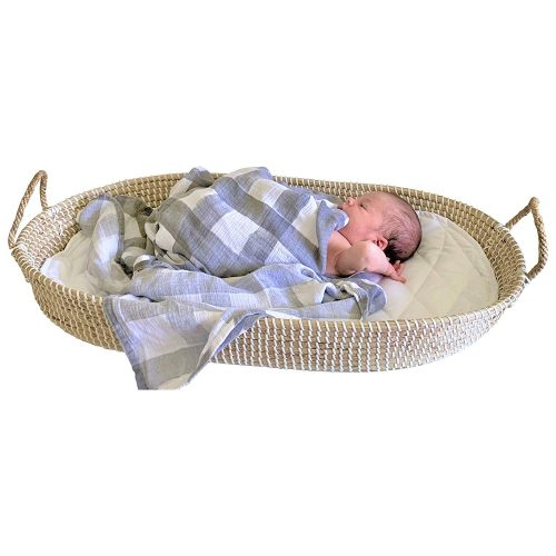Baby Changing Basket Seagrass Handmade