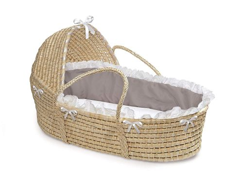 Hooded Baby Moses Basket with Liner
