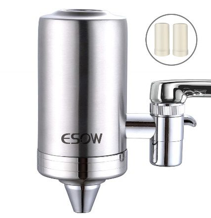 RuiLing Water Faucet Filter System ABS Kitchen Faucet Water Purifier Upgraded Tap Water Mounted Filter Double Outlet Faucet Water Filter for Home Kitchen Bathroom Sink