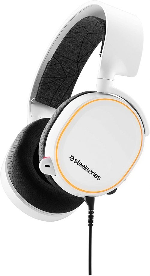 SteelSeries Arctis 5 - RGB Illuminated Gaming Headset with DTS Headphone:X v2.0 Surround - For PC and PlayStation 4 - White