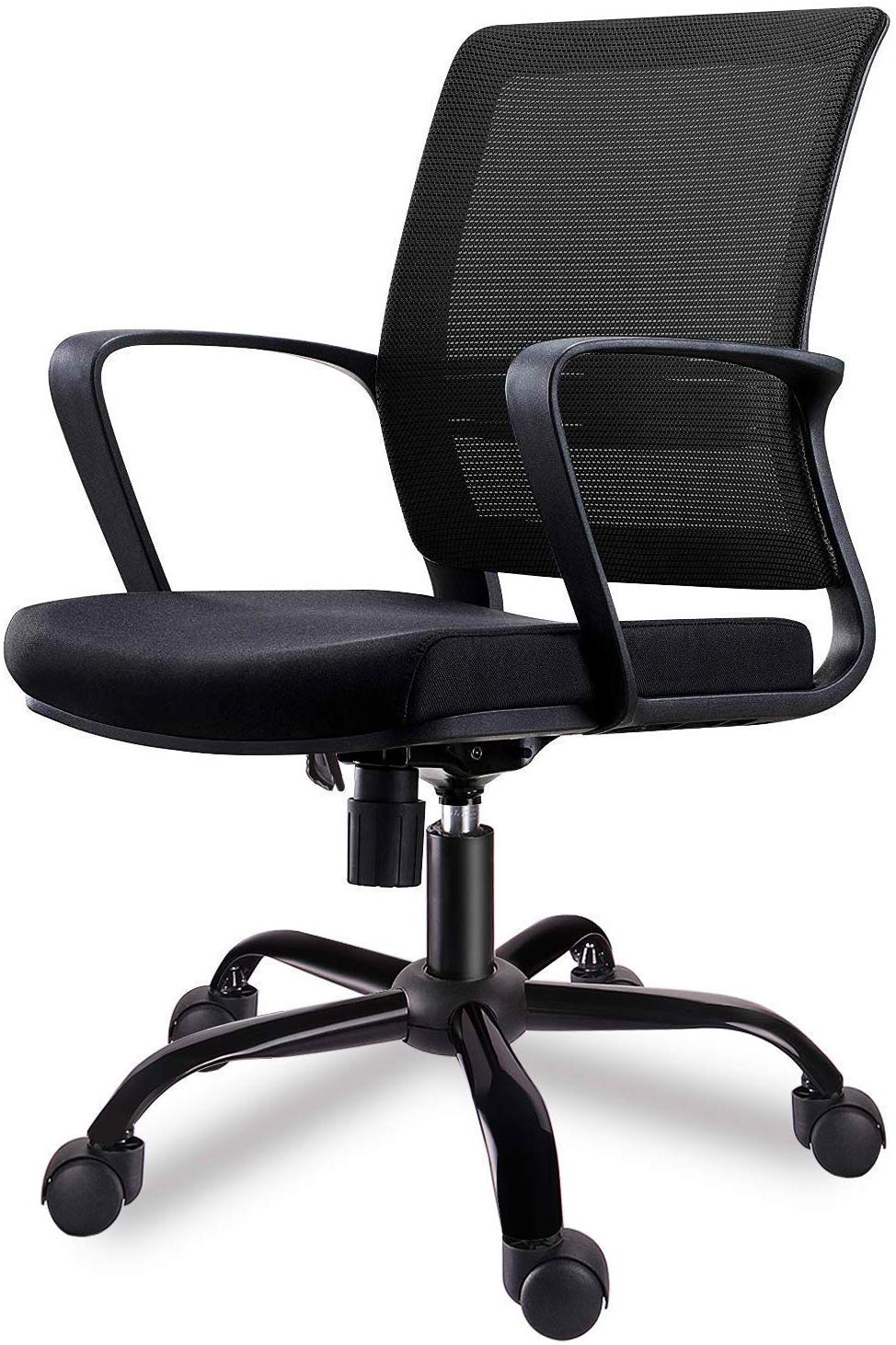 SMUGDESK Mid-Back Big Ergonomic Office Lumbar Support Mesh Computer Desk Task Chair with Armrests