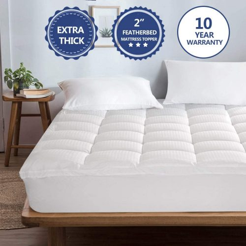 Starcast Mattress Topper Extra Thick (California King) -Cotton Pillow Top Cooling Fitted Plush Topper Cover (Deep Pocket 8-21Inch)-400TC Down Alternative Quilted Mattress Pads & Abakan