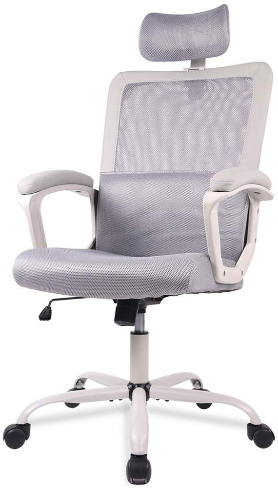 SMUGDESK Ergonomic Office Chair Adjustable Headrest Mesh Office Chair Office Desk Chair Computer Task Chair