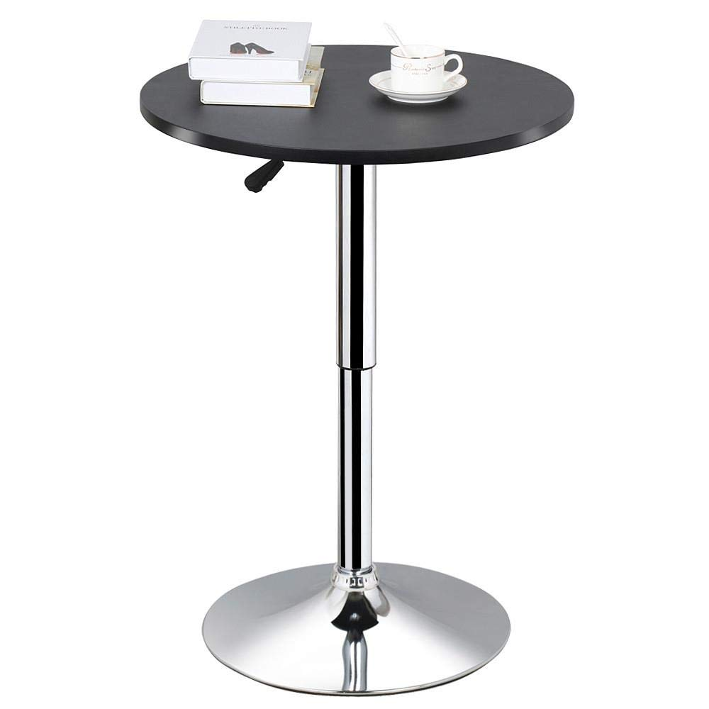 Topeakmart Adjustable Round Pub Table | Cocktail Tables