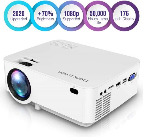 DBPOWER Mini Projector, 1080P Full HD LED Movie Projector