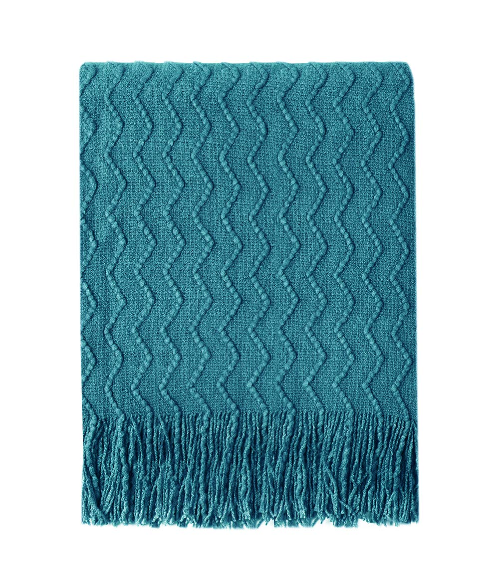 Bourina Throw Blanket Textured Solid Soft