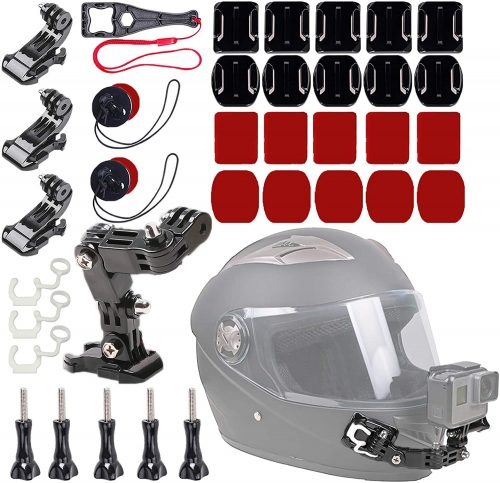 WLPREOE 37 in 1 Motorcycle Riding Helmet Chin Mount Accessories