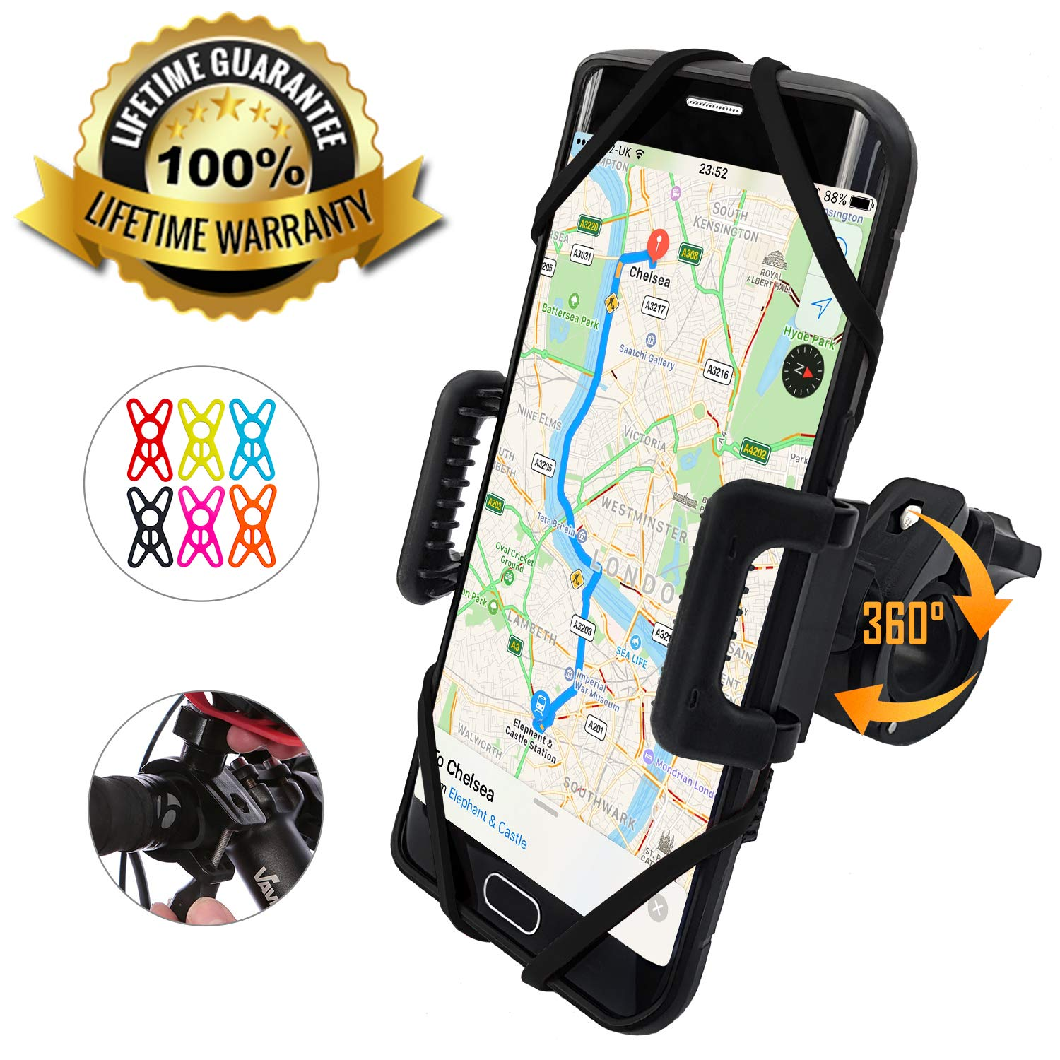 TruActive- Premium Edition- Bike Phone Mount Cell Phone Holder