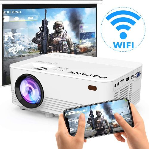 [2021 Upgrade Wi-Fi Projector] POYANK 4500Lux LED Wi-Fi Projector
