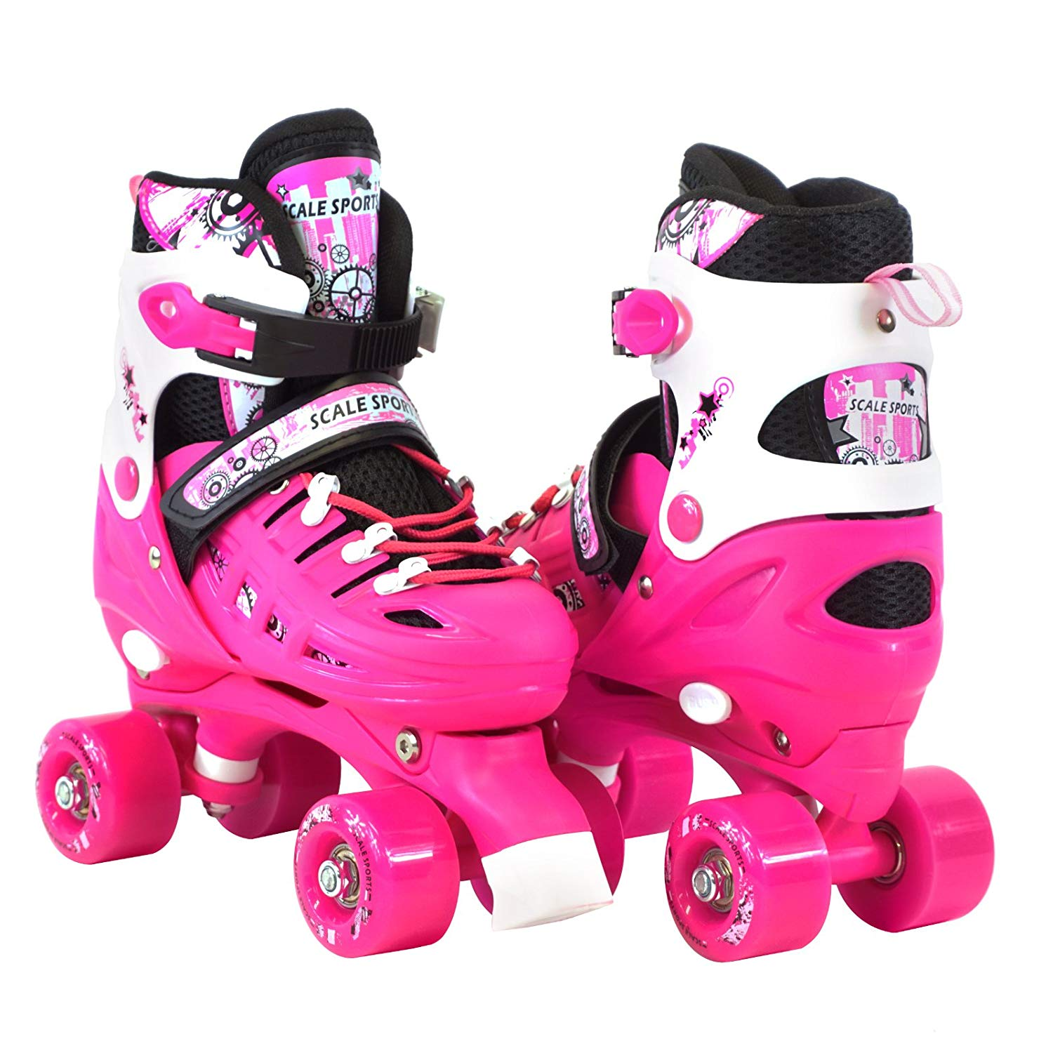 Scale Sports Adjustable Quad Roller Skates