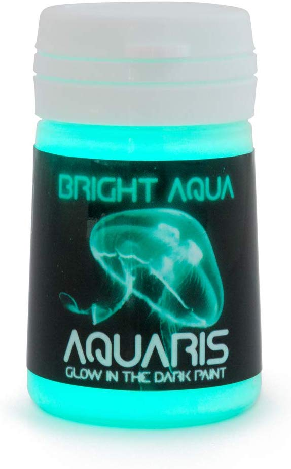 SpaceBeams Glow in The Dark Paint, Aquaris 0.68 fl oz (20ml), Bright Aqua Color (Light Blue/Turquoise)