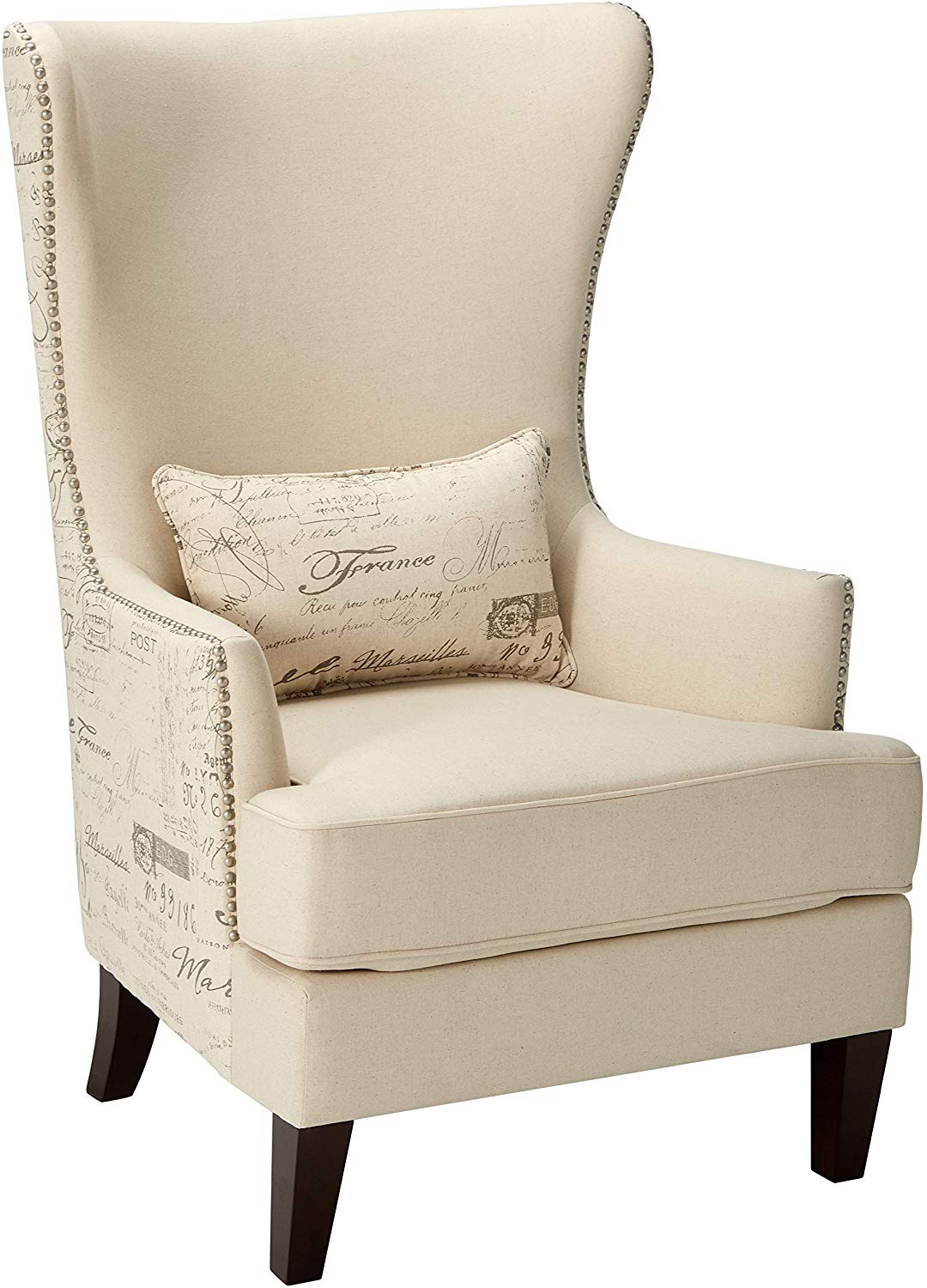 Coaster Home Furnishings Coaster Traditional Winged Accent Chair