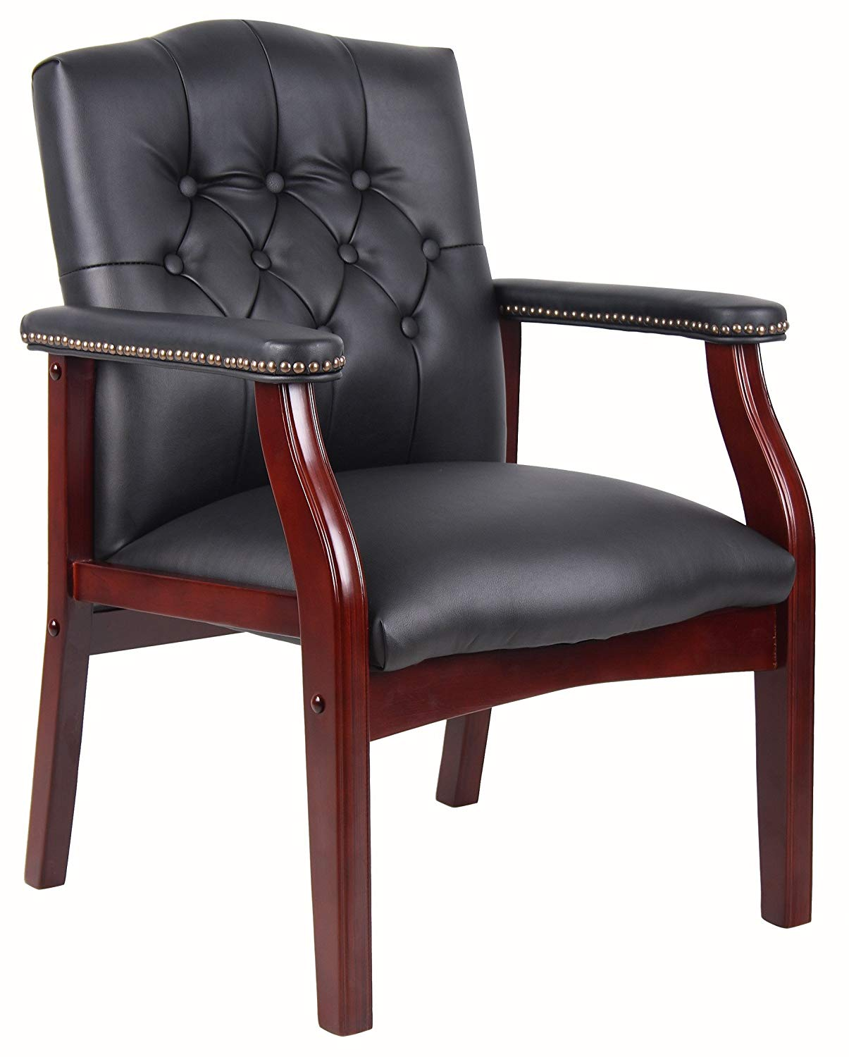 Boss Office Products Ivy League Executive Guest Chair | Captain Chairs