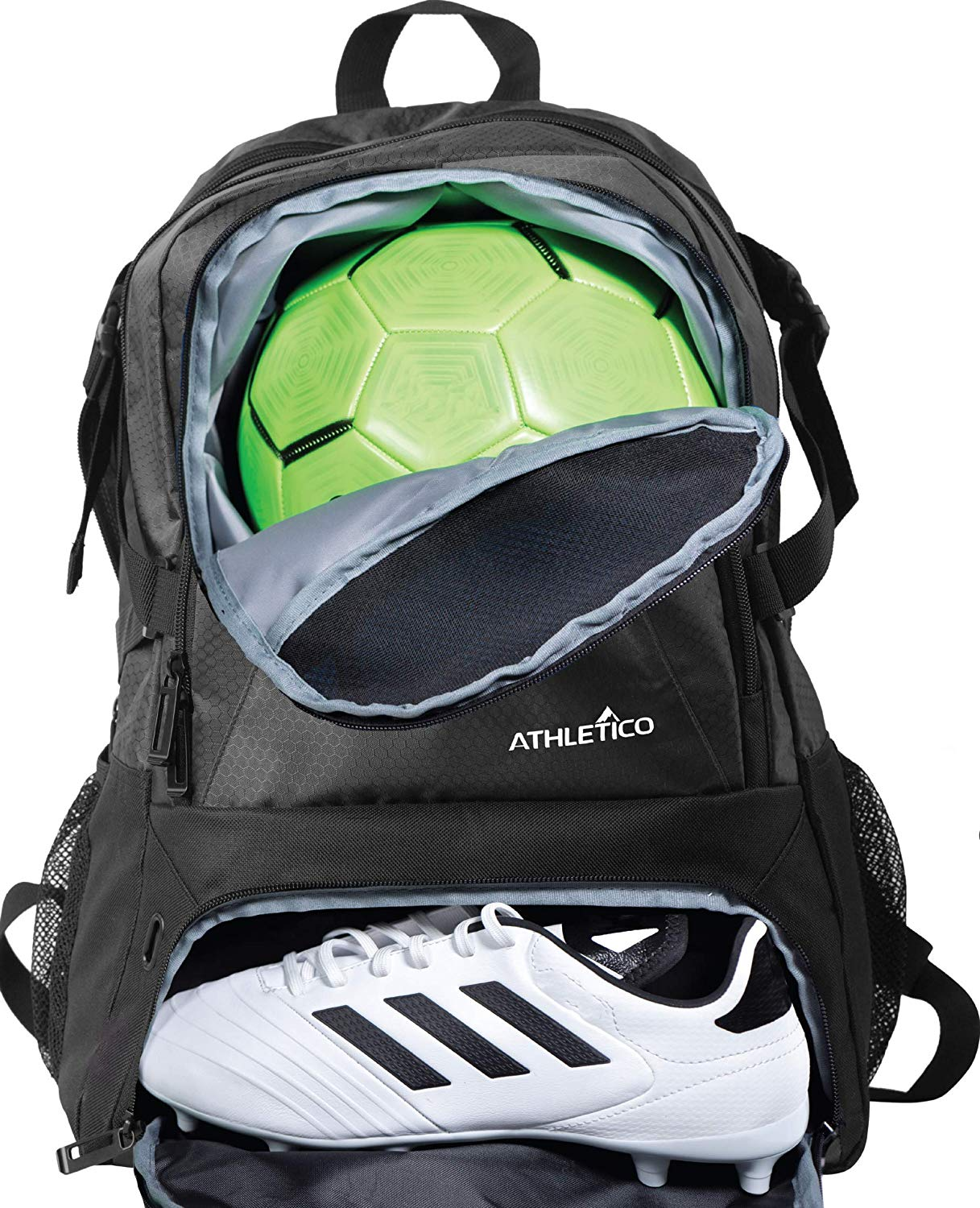 Athletico National Soccer Bag- Backpack for Soccer, Basketball & Football includes Separate Cleat and Ball Holder