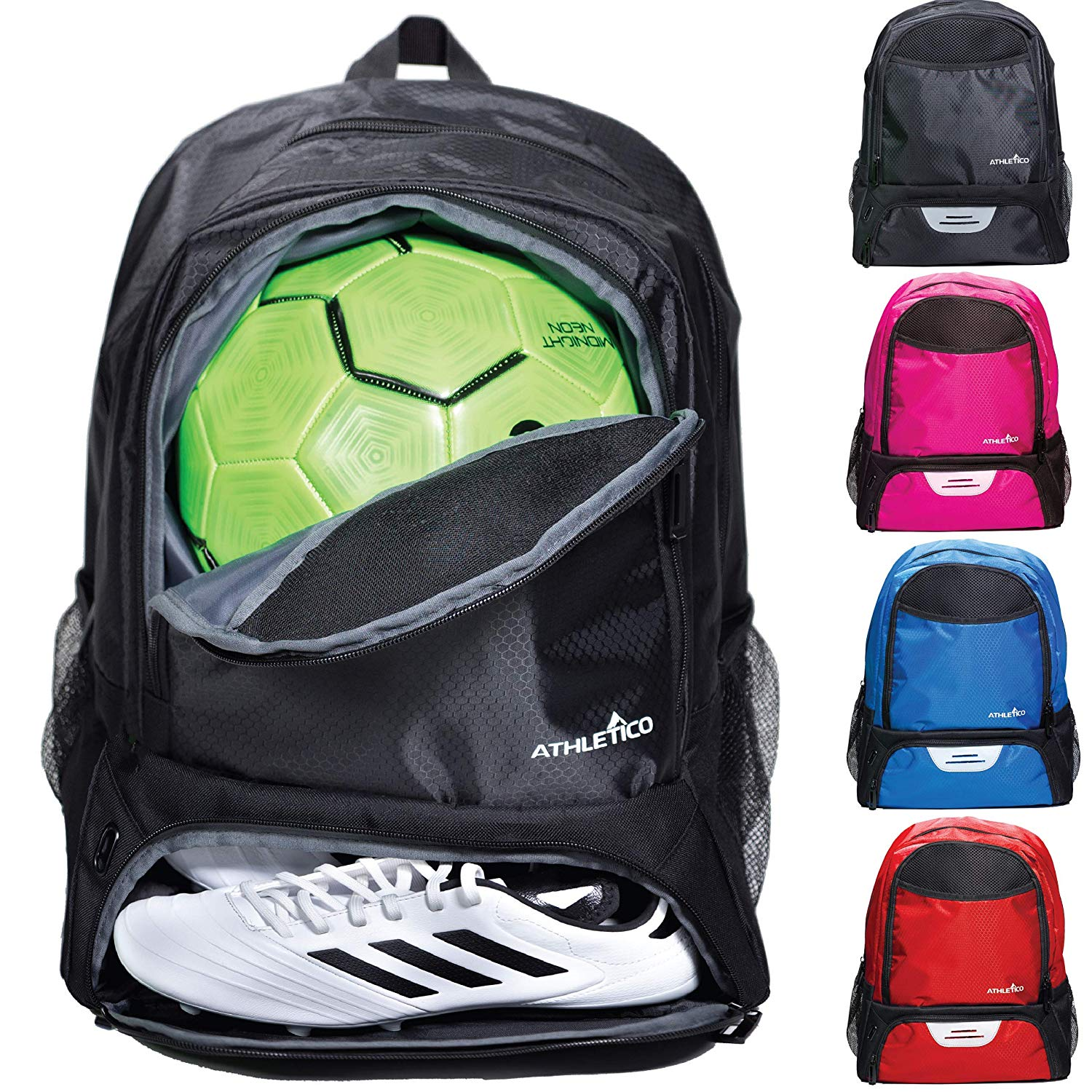 Athletico Youth Soccer Bag- Soccer Backpack & Bags for Basketball, Volleyball & Football