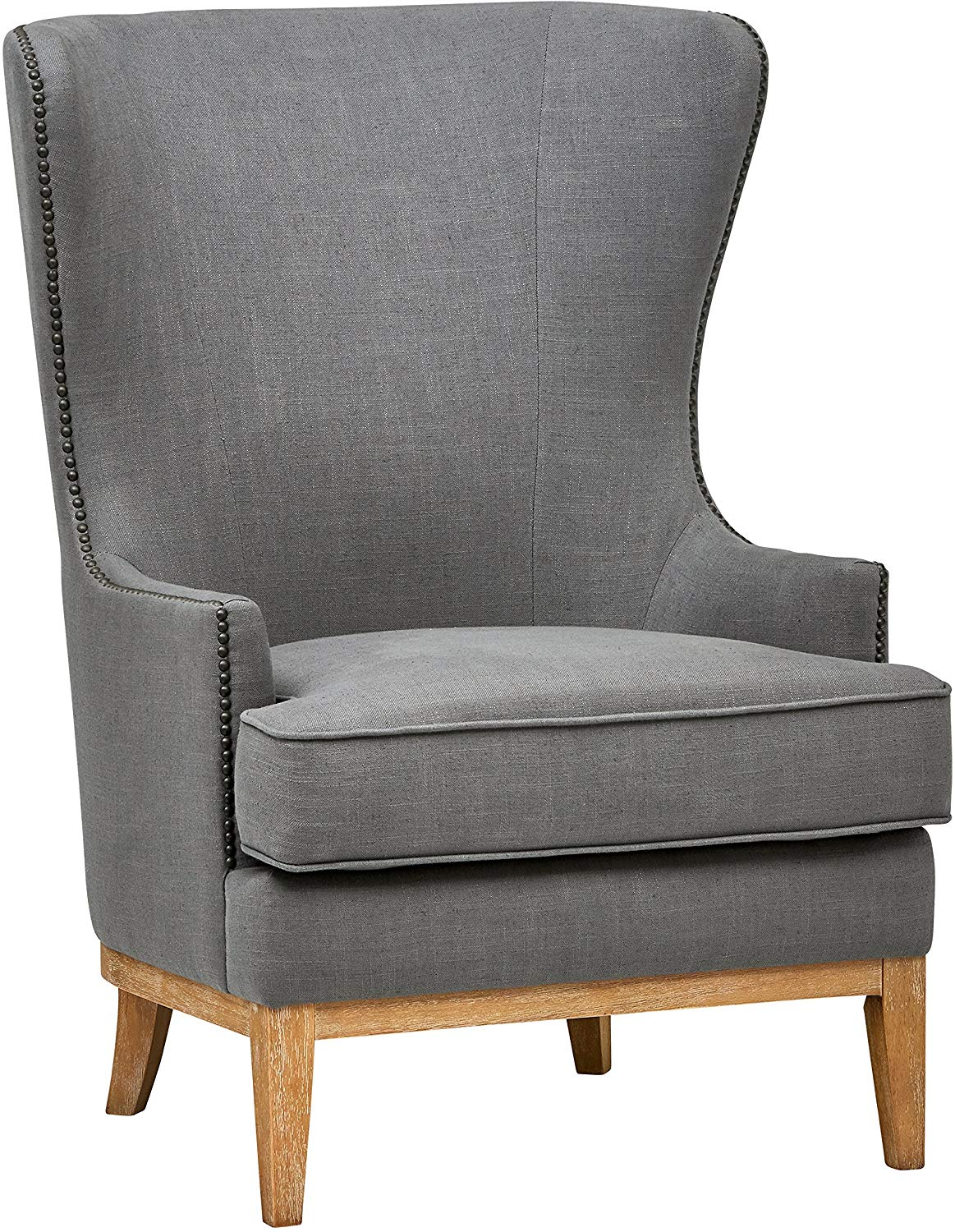 Stone & Beam Traditional Nailhead Wingback Accent Chair