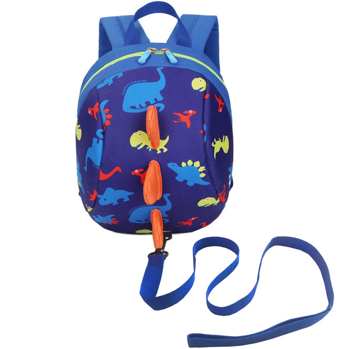 DB Dinosaur Toddler Mini Backpack with Leash, Children Kids Baby Harness Bookbag